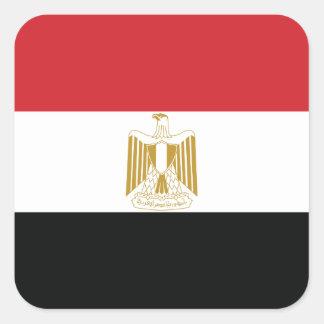 EGYPTIAN FLAG SQUARE STICKER