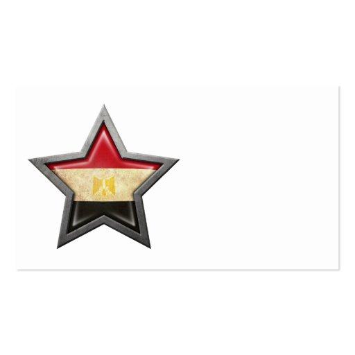 Egyptian Flag Star Business Card