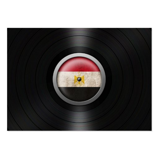 Egyptian Flag Vinyl Record Album Graphic Business Card Template