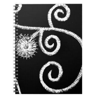 Egyptian Floral Design Spiral Notebooks