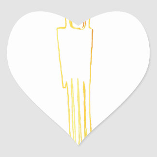Egyptian Gazelle Comb Heart Sticker