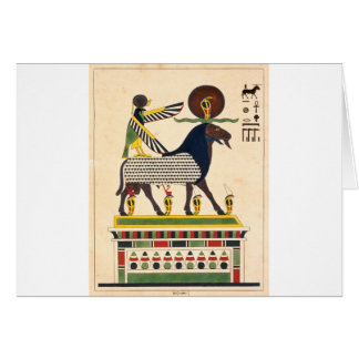 Egyptian god Amun-Ra Card