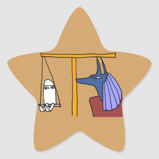 Egyptian God MEDJED and Anubis book of the dead Star Sticker