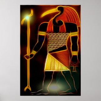 Egyptian God Thoth Poster