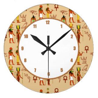 Egyptian Gods And Goddesses Large Clock
