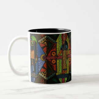 Egyptian Gods Two-Tone Coffee Mug