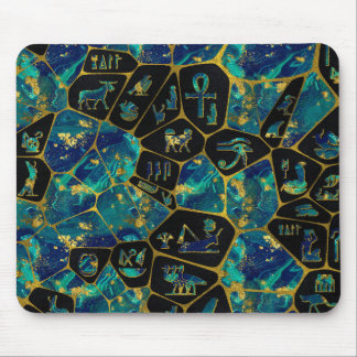 Egyptian  Gold and Marble Voronoi diagram Mouse Pad