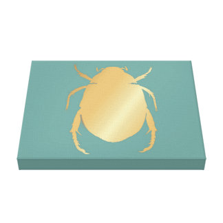 Egyptian Gold Scarab Canvas Print