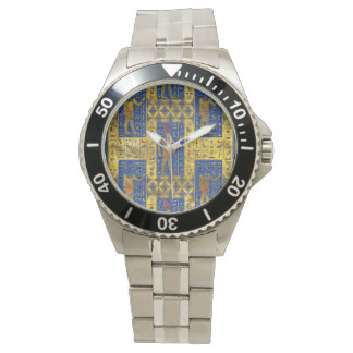 Egyptian  Gold  symbols on Lapis Lazuli Watch