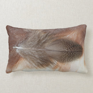 Egyptian Goose Feather Still Life Lumbar Pillow