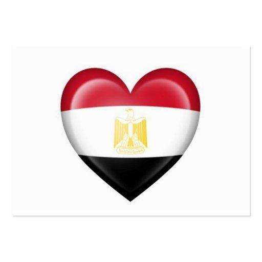 Egyptian Heart Flag on White Business Card