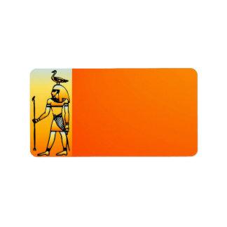 Egyptian Hieroglyphics Address Label