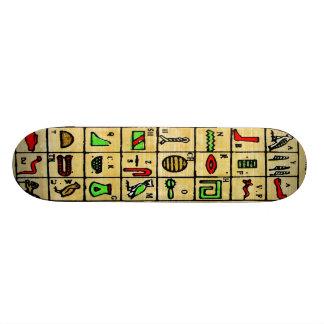 Egyptian Hieroglyphics, Alphabetic Symbols Skate Board Decks