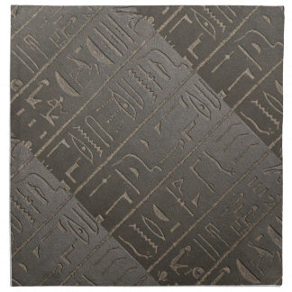 Egyptian Hieroglyphs Ancient Egypt Writing Symbols Napkin