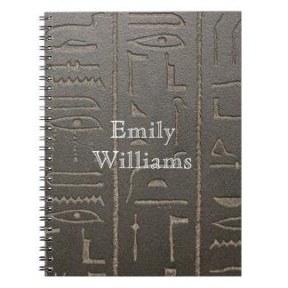Egyptian Hieroglyphs Ancient Egypt Writing Symbols Spiral Notebook