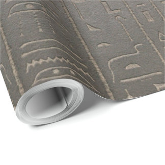 Egyptian Hieroglyphs Ancient Egypt Writing Symbols Wrapping Paper