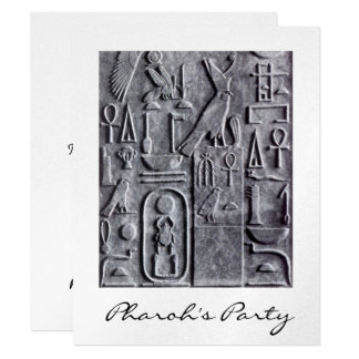 Egyptian Hieroglyphs Pharoh's Party Invitation