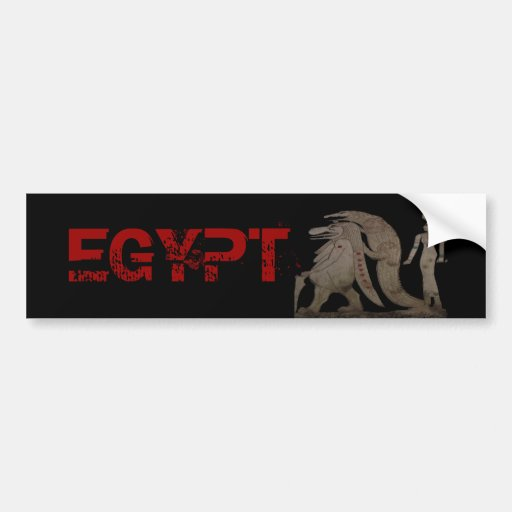Egyptian Hippo, Croc & Isis Gifts / Greetings Bumper Stickers