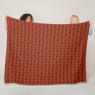 Egyptian Horus God Flame Silk Pattern Fleece Blanket
