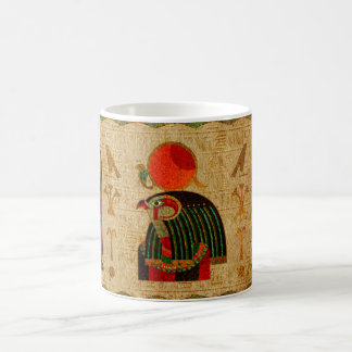 Egyptian Horus Ornament on Papyrus Coffee Mug