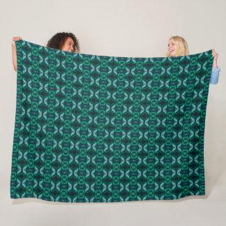 Egyptian Jade Pyramid Pharaoh Plush Pattern Fleece Blanket