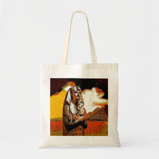 egyptian king tut Budget tote bags