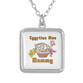 Egyptian Mau Cat Mom Silver Plated Necklace