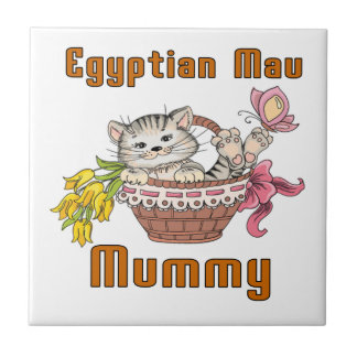 Egyptian Mau Cat Mom Tile