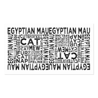 Egyptian Mau Cat Typography Business Card