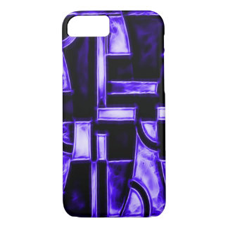 Egyptian Midnight Blue Temple Fractal iPhone 7 Case