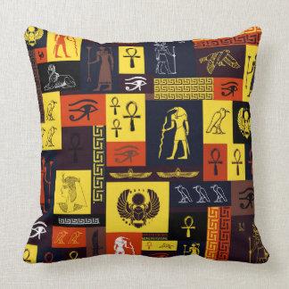 Egyptian Montage Throw Pillow