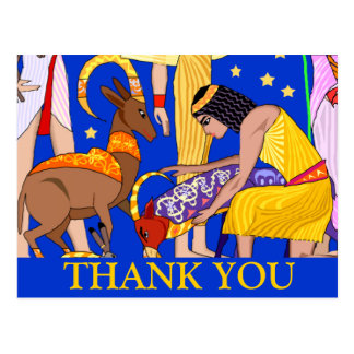 Egyptian motif Thank you card