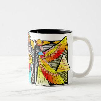EGYPTIAN MOTIF Two-Tone COFFEE MUG
