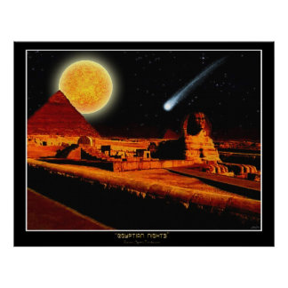 """EGYPTIAN NIGHTS"" Sphinx Fantasy Art Poster"