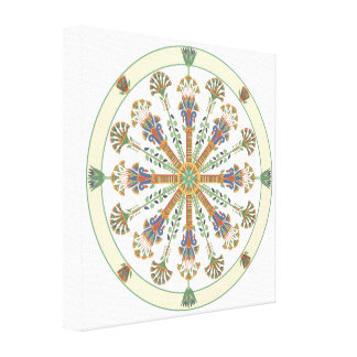 Egyptian Nouveau Lotus Mandala Canvas Print