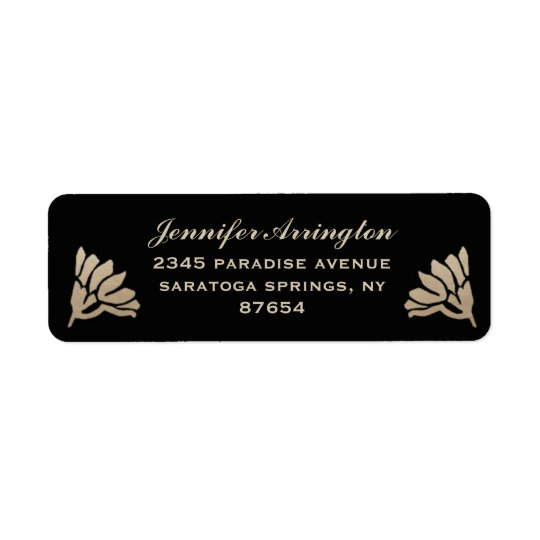 Egyptian Nouveau Wedding Labels (Gold & Black) II