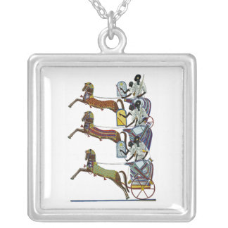 Egyptian Ornamnet #2 at Emporio Moffa Silver Plated Necklace