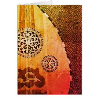 Egyptian Oud Middle Eastern Lute Greeting Card
