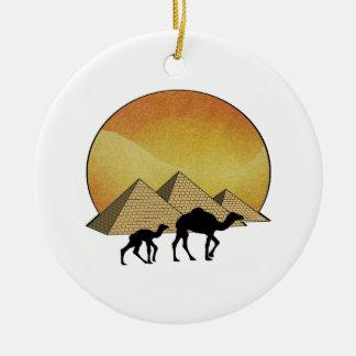 Egyptian Passing Ceramic Ornament