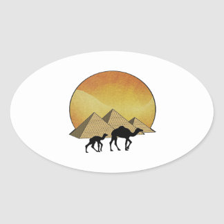 Egyptian Passing Oval Sticker