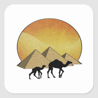 Egyptian Passing Square Sticker