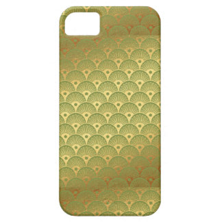 Egyptian Peacock Feathers Gold & Green iPhone 5 Covers