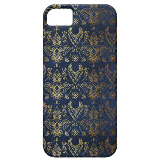 Egyptian Peacock Gold & Midnight Blue iPhone 5 Case