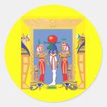 Egyptian Pharaoh Classic Round Sticker