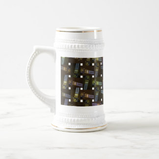 Egyptian Princess Abstract Cross Weave Pattern, Beer Stein