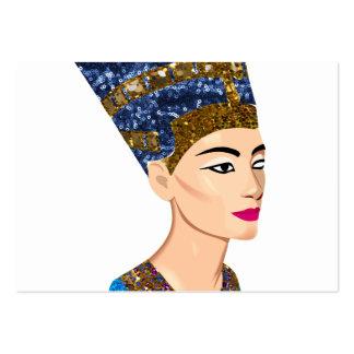 egyptian queen nefertiti large business card