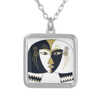 Egyptian Queen Silver Plated Necklace