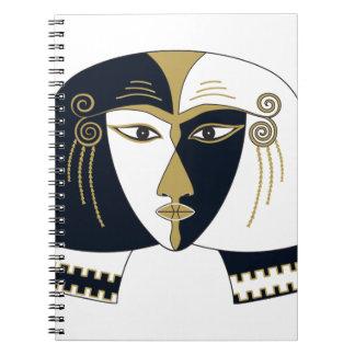 Egyptian Queen Spiral Note Book