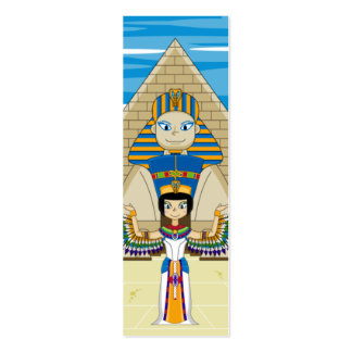 Egyptian Queens Nefertiti & Cleopatra Bookmark Pack Of Skinny Business Cards