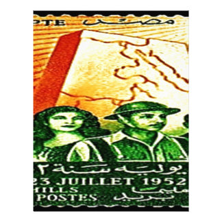 Egyptian Revolution Stamp Letterhead